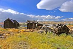 Indiano nativo construções abandonadas Fotografia de Stock Royalty Free