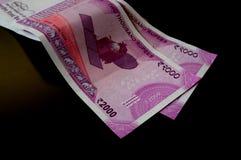 Indiano novo 2000 notas da rupia Imagem de Stock