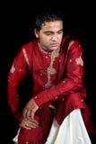 Indiano tradizionale Daydreaming Fotografie Stock Libere da Diritti