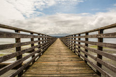 Indianola Pier. Looking out on the Indianola Pier in Washington Stock Photo