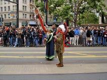 Indianos do nativo americano no orgulho alegre San Francisco fotografia de stock royalty free