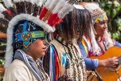 Indianos que cantam músicas na rua Fotografia de Stock