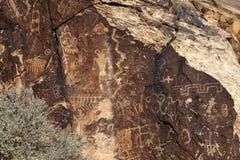 IndianPetroglyphs fotografering för bildbyråer
