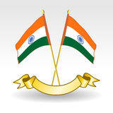 Indians Flag on isolted bakground. Stock Photo