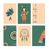 Indians icon temple ornament cards element retro vintage hinduism ethnic people tools vector illustration. Traditional travel asia religion ornament vector Stock Photography