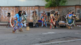 Indians sing and dance in the center of Moscow. stock footage