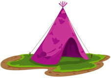 Indians tent. Illustration of isolated indians tent on white background Stock Image