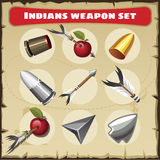 Indians traditional weapon set Stock Photos