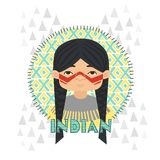 Indians vector illustration Royalty Free Stock Image