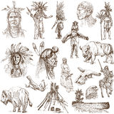 Indians and Wild West stock illustration