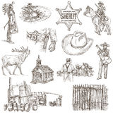 Indians and Wild West - An hand drawn pack. Royalty Free Stock Photos