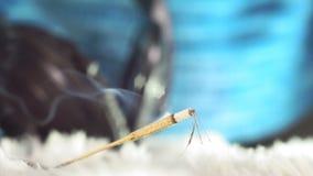 Indiansmoke burning Incense sticks, aroma incense stand incense sticks burning smoke dynamic beautiful calm relax. calm