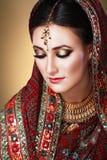 Indiańska piękno twarz Zdjęcia Royalty Free
