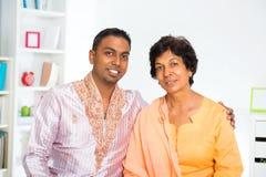 Indiańska rodzina Zdjęcie Stock