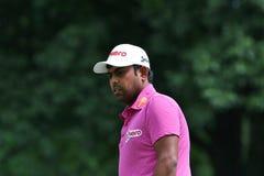 Indiański golfista Anirban Lahiri Zdjęcia Royalty Free
