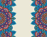 Indiańskiego doodle boho kwieciste granicy Zdjęcie Stock