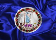 Indic a bandeira de Virgínia ilustração royalty free