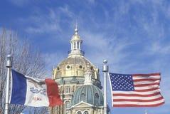 Indic o Capitólio de Iowa Fotografia de Stock Royalty Free
