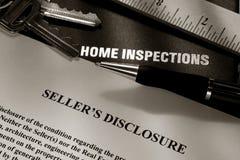 Indicação da divulgação do vendedor dos bens imobiliários Imagem de Stock