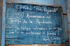 Indicação da volta de Castro Fotografia de Stock Royalty Free