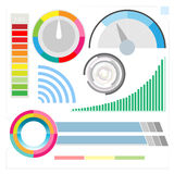 Indicação digital moderna de Infographic Fotos de Stock Royalty Free