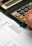 Indicações da conta bancária Imagem de Stock
