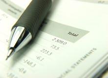 Indicações totais das finanças Imagem de Stock Royalty Free