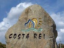 Indicación de Costa Rei, Cerdeña, Italia Fotografía de archivo libre de regalías