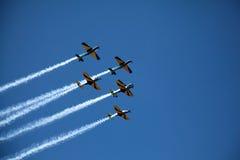 Indicador Aerobatic no Dia da Independência de Brasil Foto de Stock