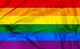 Indicador alegre del arco iris del orgullo Fotos de archivo