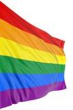 Indicador alegre del orgullo del arco iris Foto de archivo libre de regalías