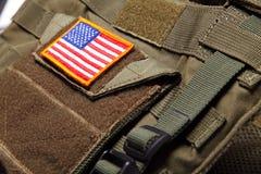 Indicador americano en el chaleco a prueba de balas Fotografía de archivo libre de regalías