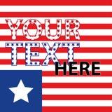 Indicador americano Rayas y estrellas Rojo y azul El fondo para la cubierta, bandera, aviadores Foto de archivo libre de regalías
