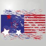 Indicador americano Rayas y estrellas Rojo y azul El fondo para la cubierta, bandera, aviadores Imagenes de archivo
