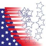 Indicador americano Rayas y estrellas Rojo y azul El fondo para la cubierta, bandera, aviadores Fotos de archivo libres de regalías