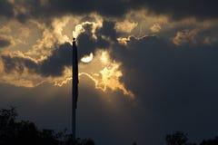 Indicador americano sin el viento Imagenes de archivo