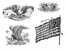 Indicador americano y ?guilas libre illustration