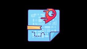 Indicador animado del mapa libre illustration