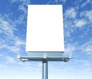 Indicador ao ar livre do quadro de avisos com céu Fotos de Stock