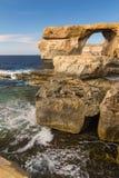 Indicador Azure, console de Gozo, Malta Foto de Stock