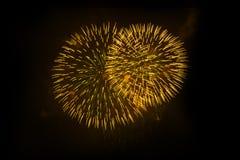Indicador bonito dos fogos-de-artifício foto de stock