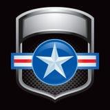 Indicador brilhante de prata com ícone da força aérea Fotos de Stock Royalty Free