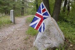 Indicador británico en el camino de la batalla Imagen de archivo