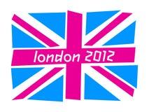Indicador BRITÁNICO Londres 2012 Fotografía de archivo libre de regalías