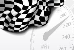 Indicador Checkered Imágenes de archivo libres de regalías