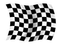Indicador Checkered Imagen de archivo