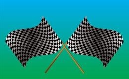 Indicador checkered cruzado Fotos de archivo libres de regalías