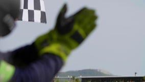 Indicador Checkered de la raza almacen de metraje de vídeo