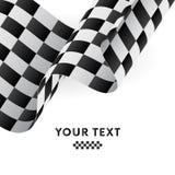 Indicador checkered que agita Competir con el indicador Ilustración del vector libre illustration