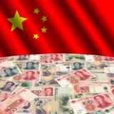 Indicador con yuan chino Fotografía de archivo